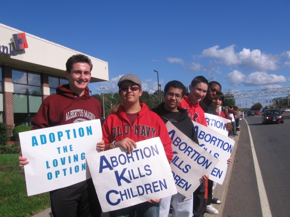 Albertus Magnus High School ProLife Club (on Route 59 (Life Chain 2011)