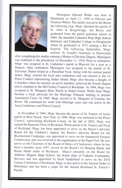 Msgr. Weber Honored at Concert for Life (5/5)