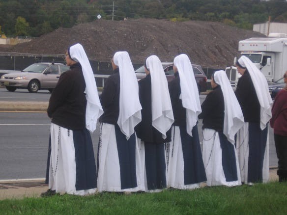 Sisters of Life on Rte. 59 (Life Chain 2012)