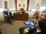 Meeting with a representative of Sen. William Larkin, prolife senator representing Haverstraw and Stony Point.