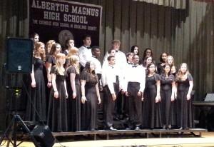 Veritas -- the Albertus Magnus Honor Choir -- performs at the Concert for Life