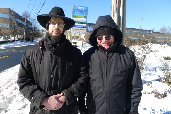 Before the program, Rabbi Noson Leiter of Torah Jews for Decency and Fr. Gerry Deponai, pastor of St. Anthony's Church in Nanuet