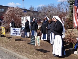 Day 20 -- March 24 -- The Sisters of Life come to pray