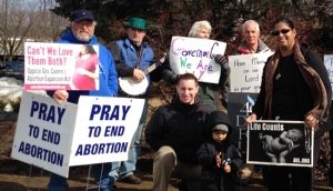 On March 20 -- Day 16 -- Steven Karlen, Northeast Coordinator of the 40 Days for Life visited the Spring Valley prayer site.