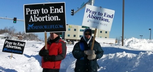 The snow has melted in Rockland, but not in Achorage, Alaska -- as the 40 Days for Life moves into its fourth week.