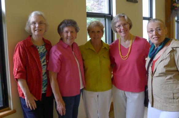 Judy Murray, Jeanmarie Grahn, Terry Anselmi, Liz O'Brien, and Ginny Gulesian