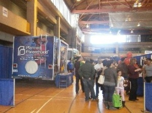 Planned Parenthood with their van at the Rockland YouthFest at Rockland Community College on March 15