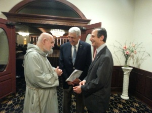 Fr. Apostoli, Richard Bruno, and Chris Bell