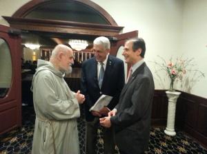 Fr. Apostoli, Richard Bruno, and Chris Bell