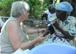 When I first went to Haiti, I worked in Triage, taking blood pressures and obtaining any important information from the patients.