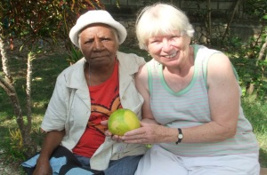 The Haitian people have so little, and yet they are so generous.  This was a wonderful day for me when this woman came back to the clinic to give me a grapefruit from her garden to show her appreciation for my helping her with her diabetes.