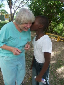 This kiss left an indelible mark.  No wonder I keep going back to Haiti!