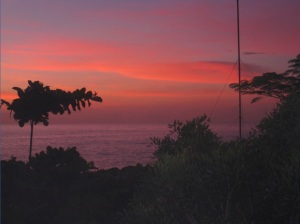Haiti is a beautiful country.  We can see a sunrise like this right from our clinic each morning.